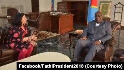 Le président Félix Tshisekedi, et la cheffe de la Monusco, Leila Zerrougui, Kinshasa,RDC, le 30 décembre 2019. (Facebook/FathiPresident2018)
