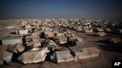 在約旦境內的敘利亞難民營