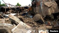 Bekas serangan militan Boko Haram di Nigeria (foto: dok).