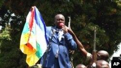 ປະທານາທິບໍດີສາທາລະນະລັດອາຟຣິກາກາງ ທ່ານ Francois Bozize ກ່າວຄຳປາໄສຕໍ່ຝູງຊົນ ທີ່ນະຄອນຫຼວງ Bangui ເມື່ອວັນທີ 27 ທັນວາ ຜ່ານມານີ້.