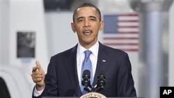 奥巴马总统周五在马里兰州发表讲话