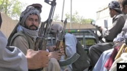Local militias are recruited to provide security for Afghan districts with a shortage of police officers.