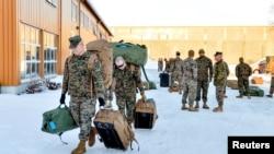 Січень 2017-го року. Морпіхи прибувають до Норвегії