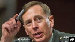 US Gen David Petraeus appears before the US Senate Armed Services Committee during his confirmation hearing to become the head of US and NATO forces in Afghanistan on Capitol Hill, 29 Jun 2010