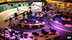 Studio siaran Al-Jazeera International di Doha, Qatar (foto: ilustrasi).