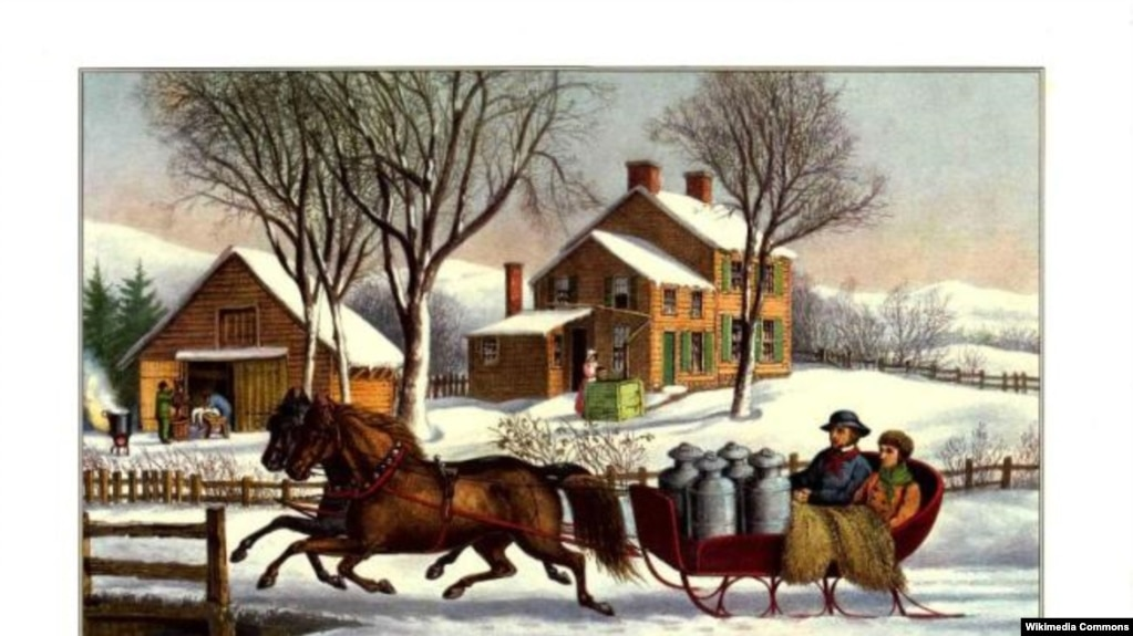 winter morning in the country currier and ives print - Christmas In The Country