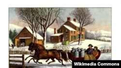 """Winter Morning in the Country"" (Currier and Ives Print)"