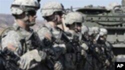 훈련을 받는 미군들 (자료사진)