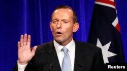 Nhà lãnh đạo đối lập Úc Tony Abbott tuyên bố chiến thắng trong cuộc bầu cử liên bang, Sydney, 7/9/2013