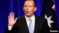 7일 총선거에서 승리한 호주 자유당의 토니 애벗 대표