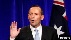 Australia ႏိုင္ငံရဲ႕ မၾကာခင္ ဝန္ႀကီးခ်ဳပ္သစ္ျဖစ္လာေတာ့မယ့္ သမား႐ုိးက်ဝါဒီ ေခါင္းေဆာင္ Tony Abbott (စက္တင္ဘာ ၇၊ ၂၀၁၃)