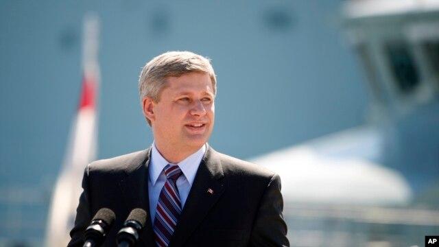 加拿大总理哈珀(资料照片)