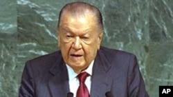 Former Venezuelan President Rafael Caldera (1998 file photo)