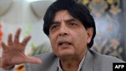 چوهدری نثار احمد، وزیرداخلۀ پاکستان