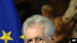 意大利總理蒙蒂(資料圖片)