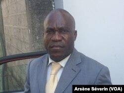 Assen Bozire, économiste, membre de l'ITIE à Brazzaville, le 10 septembre 2018. (VOA/Arsène Séverin)