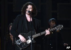Hozier performs at the 57th annual Grammy Awards on Feb. 8, 2015, in Los Angeles.