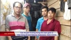 Ngư dân Việt bị Indonesia bắt giữ tuyệt thực phản đối