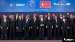 Bryusselda o'tgan Yevropa Ittifoqi-Turkiya sammiti, 7-mart, 2016-yil