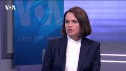 Светлана Тихановская о целях визита в США