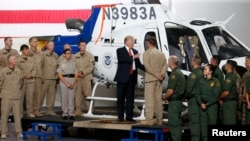 U.S. President Donald Trump participates in a tour of U.S. Customs and Border Protection facility in Yuma, Arizona, U.S., August 22, 2017. REUTERS/Joshua Roberts