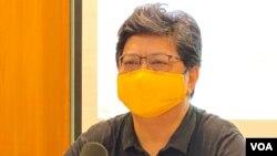 香港記者協會主席楊健興表示,香港市民對新聞自由的滿意度下跌,與香港近年的政治大氣候下滑的趨勢脗合。(美國之音湯惠芸)