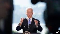 조 바이든 미국 대통령이 16일 스위스 제네바에서 블라디미르 푸틴 러이사 대통령과의 정상회담을 마친 후 기자회견을 했다.