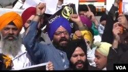 Warga Sikh melakukan protes (foto: ilustrasi).