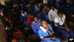 In this photo dated June 12, 2007, school children are seen in a classroom in the village of Chiseka, outside Lilongwe, Malawi.