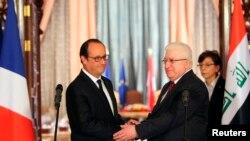 Serokomarê Îraqê Fuad Masum û Serokê Fransa Francois Hollande