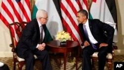 Mahmut Abbas Eylül 2011'de New York'ta Başkan Obama'yla görüşmesinde