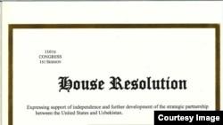 U.S. House Resolution on Uzbekistan