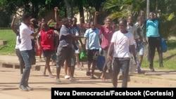 Celebração da liberdade provisória, Nova Democracia, Gaza, Moçambique.