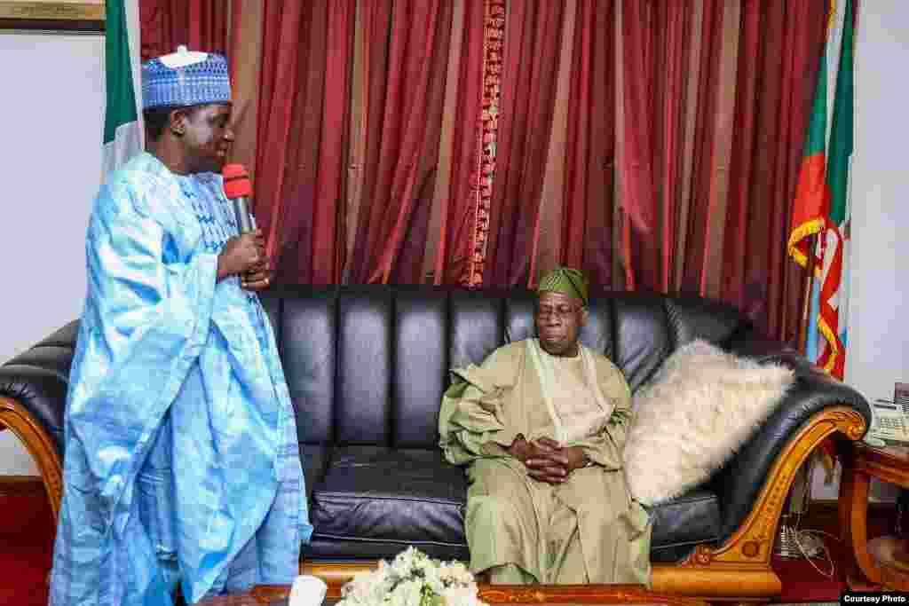 Ziyarar tsohon shugaban Najeriya Olusegun Obasanjo a Filato