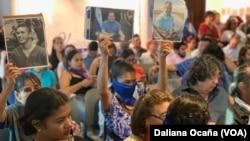 Periodistas se reúnen en Nicaragua por el Día Internacional de la Libertad de Prensa, el 3 de mayo de 2019.