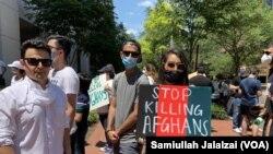 مظاهره کوونکو له ایران څخه وغوښتل چې د افغان کډوالو سره بد چلند ودروي