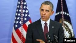 Obama tokom današnjeg predstavljanja budžeta u osnovnoj školi Pauel u Vašingtonu
