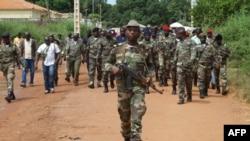 Militares guineenses. Foto de arquivo