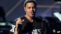 J. Cole performs onstage at the BET Awards at the Nokia Theater, June 30, 2013, in Los Angeles.