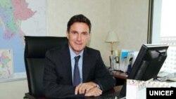ရဲ႕ ျမန္မာဌာေနကိုယ္စားလွယ္ Mr. Bertrand Bainvel။ (ဓာတ္ပံု-www.unicef.org)