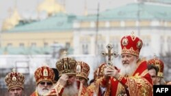 Патриарх Кирилл во время стояния «За веру»