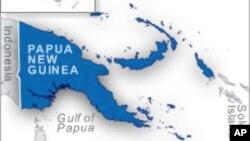 Peta Papua Nugini.