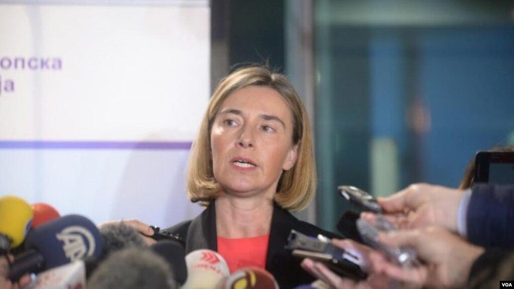 Mogherini në Shkup, bën thirrje për reflektim
