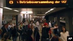 """法兰克福市中心的""""卫戊大本营""""地铁站(2007年)"""