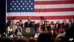 奥巴马总统在俄亥俄州讲话