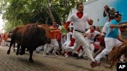 Фестиваль Сан-Фермин в Памплоне, Испания, 12 июля 2013г.