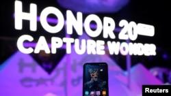 華為公司旗下榮耀手機的一款手機(路透社2019年5月)