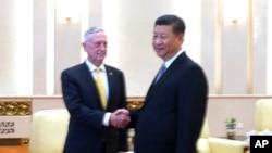 VOA连线(叶兵):美防长马蒂斯访华 中方强调领土主权