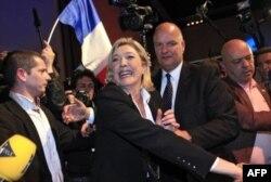 مارین لوپن، از حزب راست افراطی جبهه ملی