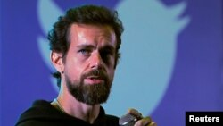 Twitter CEO Jack Dorsey addresses students during a town hall at the Indian Institute of Technology (IIT) in New Delhi, India, November 12, 2018.